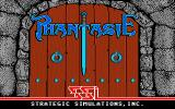 Phantasie Atari ST Title screen