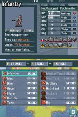 Advance Wars: Days of Ruin Nintendo DS The first stage of most missions involves mustering your army.