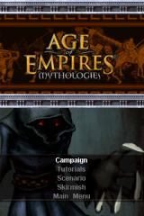 Age of Empires: Mythologies Nintendo DS Options for single player modes.