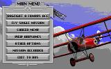 Red Baron DOS The main menu (EGA)