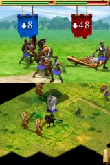 Age of Empires: Mythologies Nintendo DS After each attack, the game shows you how much damage you dished out.