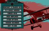 Red Baron DOS The main menu (MCGA)