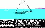 The American Challenge: A Sailing Simulation DOS Title screen