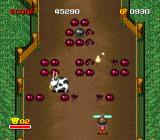 Zig Zag Cat: Dachō Club mo Oosawagi da SNES The cows impede you about as well as a cow can be expected to do anything