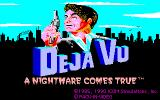 Déjà Vu: A Nightmare Comes True!! PC-98 Title screen