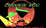 Chuckie Egg DOS Title Screen (CGA)