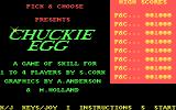 Chuckie Egg DOS Front End Screen (CGA)