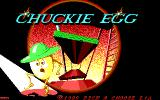 Chuckie Egg DOS Title Screen (EGA/Tandy)