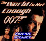 007: The World is Not Enough Game Boy Color Main title screen