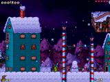 "Jazz Jackrabbit 2: The Secret Files Windows Scene from a user-created level called ""A White Christmas"""