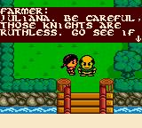 Quest for Camelot Game Boy Color Talking to a villager