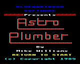 Astro Plumber BBC Micro Title page