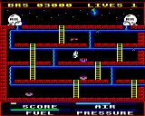 Astro Plumber BBC Micro Flying over a nasty thing