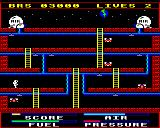 Astro Plumber BBC Micro Screen two with different nasties