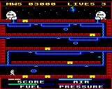 Astro Plumber BBC Micro Screen three with teleport pads