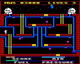 Astro Plumber BBC Micro Screen four with really tough to pass nasties