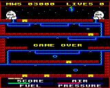 Astro Plumber BBC Micro Out of air - game over