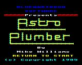 Astro Plumber Electron Title page