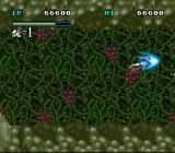 Uchū no Kishi: Tekkaman Blade SNES Demonstating the invulnerable speed boost of a blue System Box