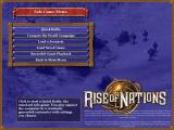 Rise of Nations Windows The solo game menu