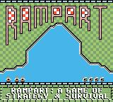 Rampart Game Boy Color Title screen