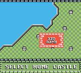 Rampart Game Boy Color Select your home castle.
