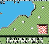 Rampart Game Boy Color Place your cannons.