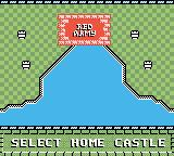 Rampart Game Boy Color Select your new home castle.