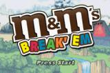 M&M's Break' Em Game Boy Advance Title screen