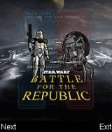 Star Wars: Battle for the Republic J2ME Title screen