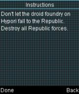 Star Wars: Battle for the Republic J2ME Mission objective