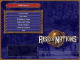 Rise of Nations Windows Main Menu.