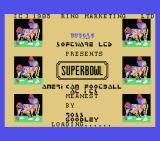 Superbowl MSX Title screen