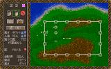 Castles PC-98 Zooming out. Building options