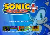 Sonic: Mega Collection Plus PlayStation 2 Title screen.