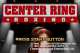Center Ring Boxing SEGA Saturn Title screen
