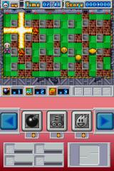 Bomberman Nintendo DS A few power ups later, and now the explosions are starting to look impressive.