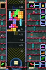 Tetris DS Nintendo DS Push mode is another head to head offering in which you try to push a shared stack of blocks into your opponents zone by making doubles, triples and tetrises.