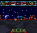 Space Football: One on One SNES Got the hoverball in my sights