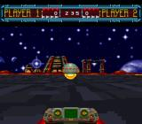 Space Football: One on One SNES When the ball is in your possession it will start changing colors
