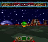 Space Football: One on One SNES If the ball is held on for too long, it will automatically be fumbled