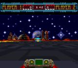 Space Football: One on One SNES You can also shoot the hoverball forward
