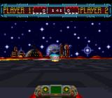 Space Football: One on One SNES The goal zone is in sight