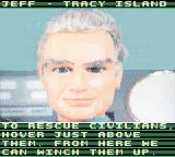Thunderbirds Game Boy Color Jeff gives you hints in using Thunderbird 1.