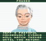 Thunderbirds Game Boy Color The pause screen.
