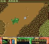 Thunderbirds Game Boy Color Shooting the weapon in Thunderbird 2, the VTOL craft.