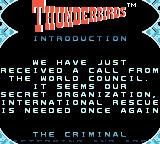 Thunderbirds Game Boy Color The introduction