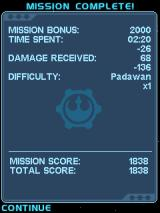 Star Wars: The Empire Strikes Back J2ME Mission complete!
