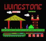 Livingstone, I Presume? MSX Title screen (MSX 1 version)