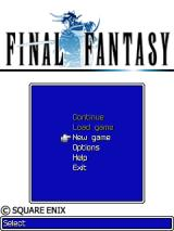 Final Fantasy J2ME Main menu